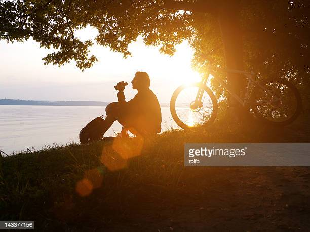 man resting - bodensee stock pictures, royalty-free photos & images