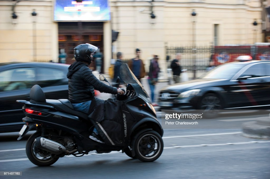 A Man Rides A Three Wheel Motorcycle Or Motor Tricycle On A Street In News Photo Getty Images