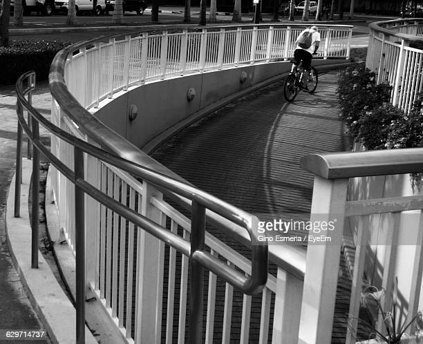 Man Riding Bicycle On Ramp