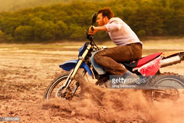 Man riding dirt bike