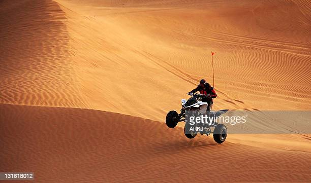 Man riding quad bike