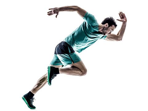 man runner jogger running  isolated 515232220