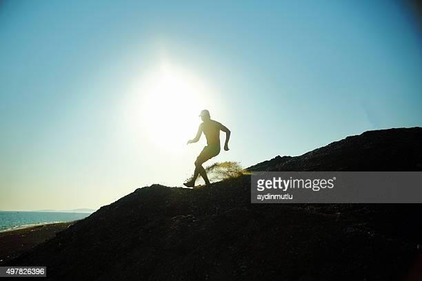 Mann sprinter Läufer jogger-silhouette