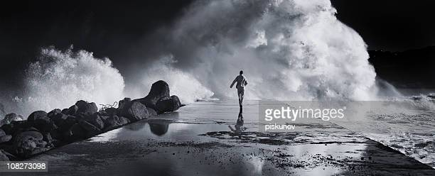 man running away - escaping stock pictures, royalty-free photos & images