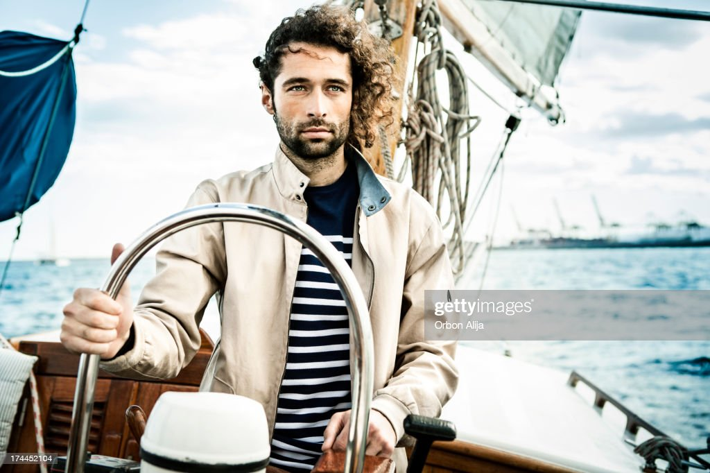 Man sailing : Stock Photo