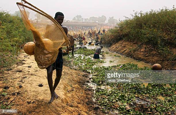 A man searches for fish during the Argungu Fishing Festival on March 19 in Argungu Nigeria The Argungu Fishing Festival was first held in 1934 Then...