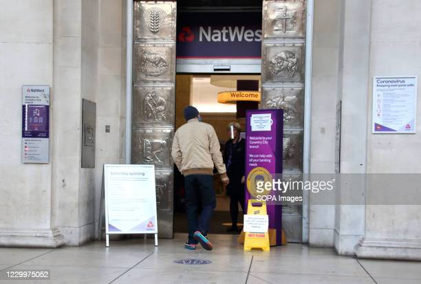 Man seen entering in a Nat West bank branch in the city centre. On the first weekend of new coronavirus restrictions, the City of Coventry is in the...