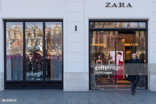 A man seen leaving from a Zara shop in Krakow