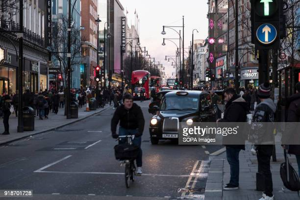 A man seen riding a bicycle in London famous Oxford street Central London is one of the most attractive tourist attraction for individuals whose...