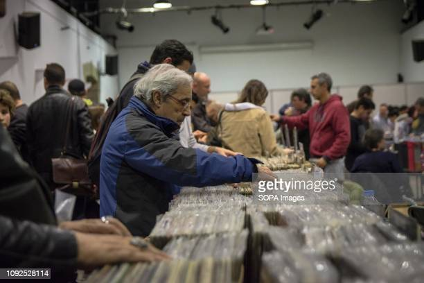 A man seen searching for vinyl during the Vinyl Market festival which brings together many new disc collections collectibles and new releases It also...