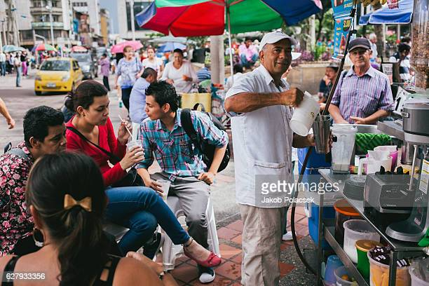 Man selling hot coffee