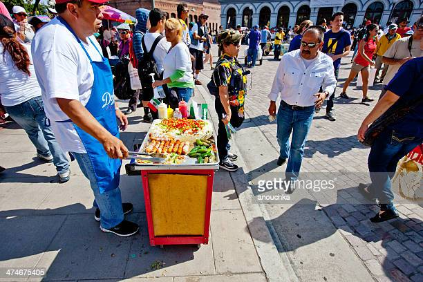 Man selling hot dogs, Los Angeles Downtown