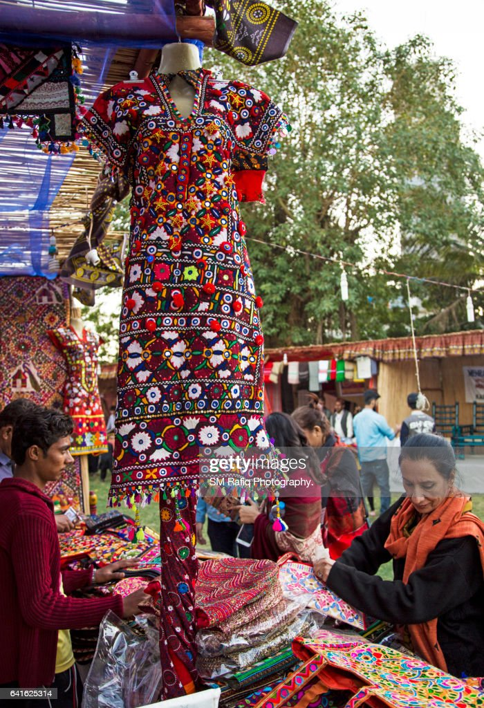 A Man Selling Sindhi Handicrafts Stock Photo Getty Images