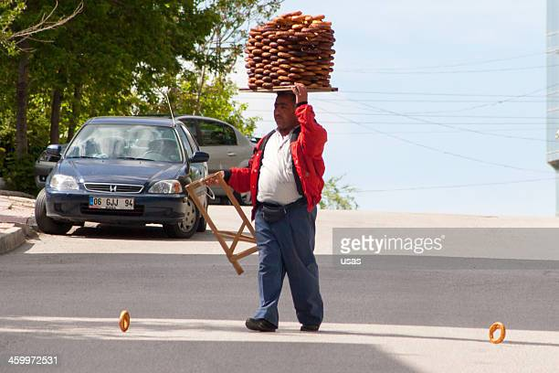 Man selling Turkish Bagels