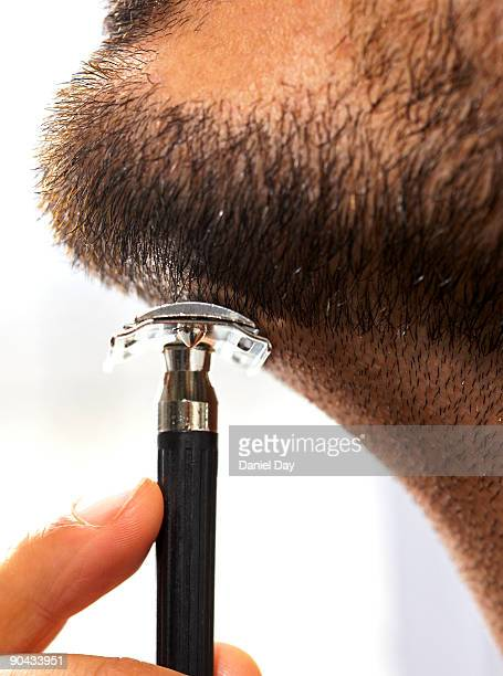man shaving - shaved stock pictures, royalty-free photos & images