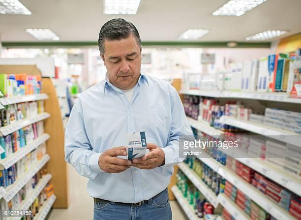 Man shopping at a drugstore