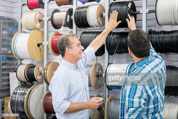 Man shopping at a hardware store