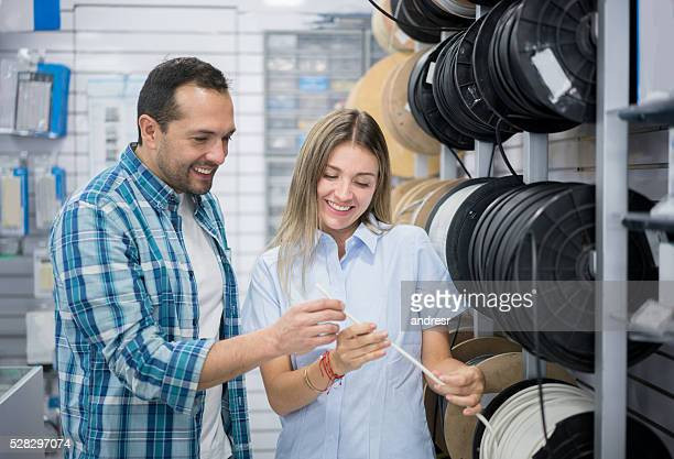 Man shopping at a hardware store
