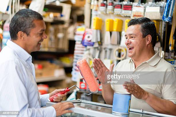 Man shopping at the hardware store