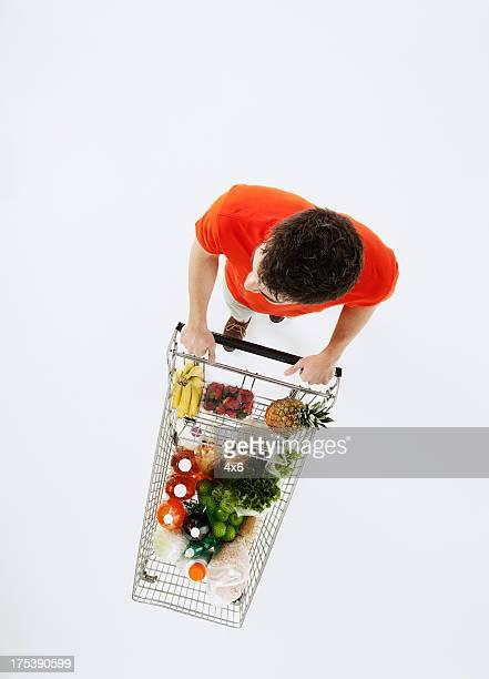 男性のショッピング、スーパーマーケット
