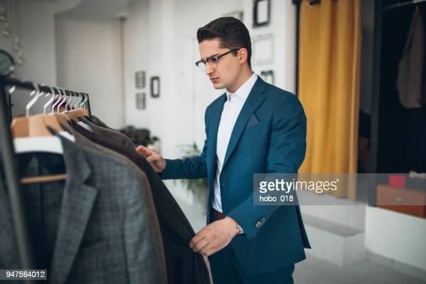 Man shopping suit