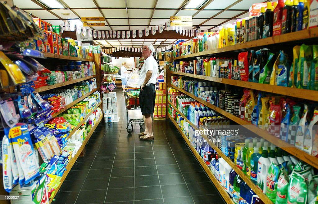 A man shops in Kem Chicks, a popular supermarket for westerner expatriates, October 20, 2002 in Jakarta, Indonesia. Kem Chicks lost 50 percent of its customers over the weekend due to the recent bombings. The Foreign Affairs Department of Australia warned through its website that crowded areas in Jakarta, including entertainment areas, should be avoided. The U.S. State Department warned October 20 of possible attacks on U.S. interests in Indonesia and urged U.S. citizens not to travel to Indonesia.