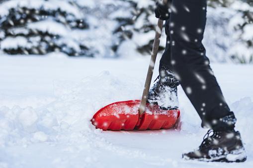 Man shoveling snow 1082531186