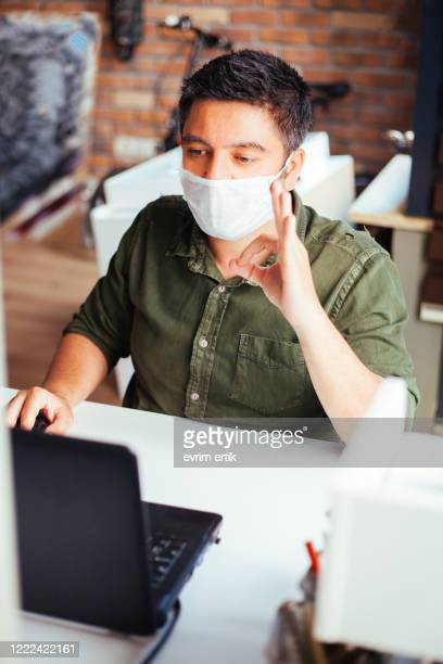 man showing ok sign and wearing protection mask - shielding stock pictures, royalty-free photos & images