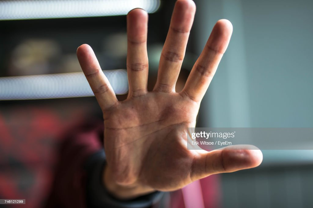 Man Showing Stop Gesture : Stock Photo