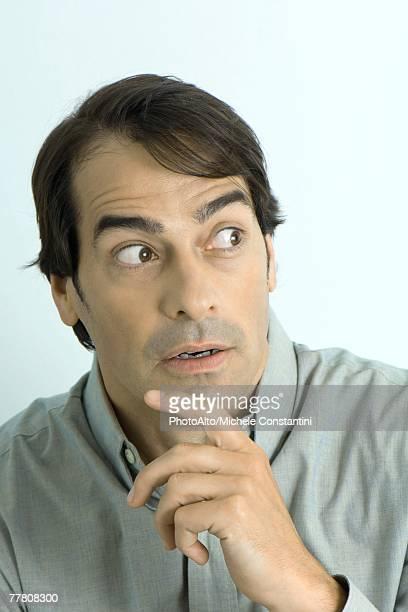 Man showing surprise, portrait