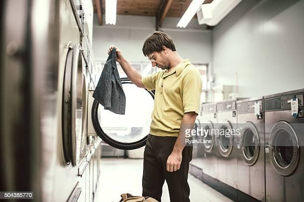 Man 収縮ジャケットで洗い