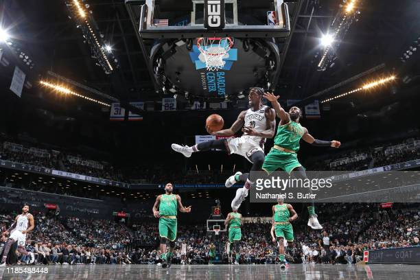 Man Shumpert of the Brooklyn Nets drives to the basket against the Boston Celtics on November 29 2019 at Barclays Center in Brooklyn New York NOTE TO...