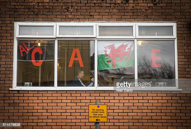 Man sits in the window of a cafe on March 8, 2016 in Merthyr Tydfil, Wales. The West Wales and the Valleys region, which covers 15 local authority...