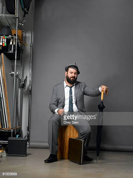 Man sitting in a suit
