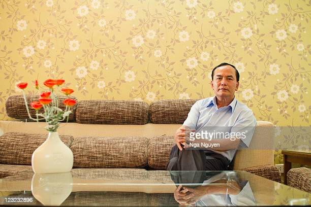 Man sitting in living room