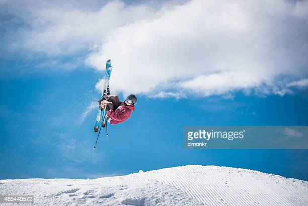 man ski jumping - ski jumping stock pictures, royalty-free photos & images
