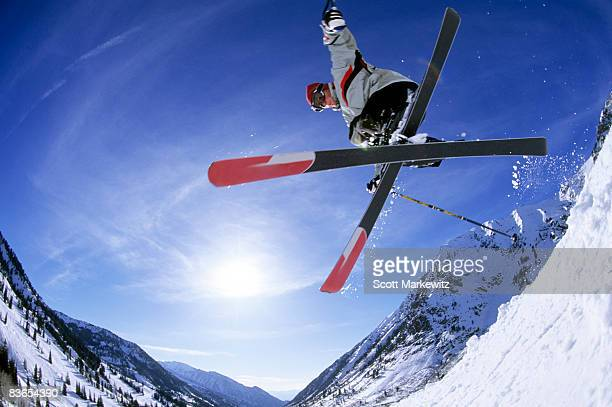 Man skiing at Snowbird, Utah