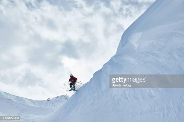 Man skiing, Hintertux, Tirol, Austria