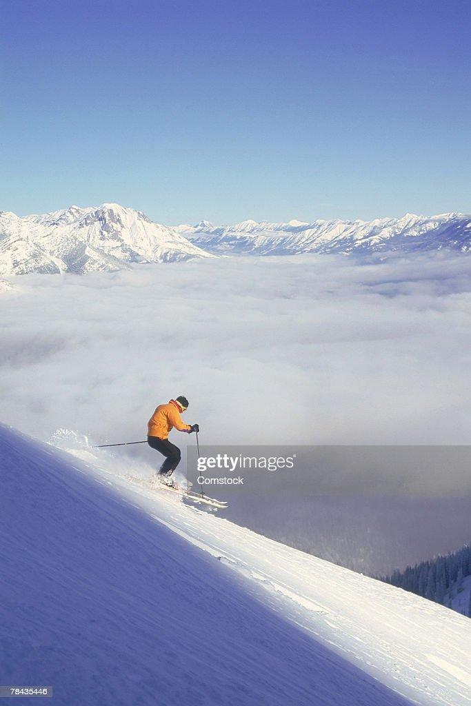 Man skiing in British Columbia , Canada : Stock Photo