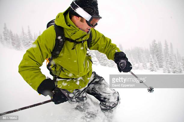 Man skiing in Colorado