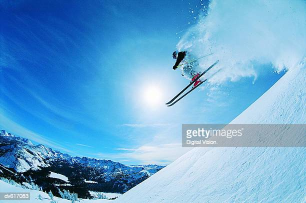 man skiing - winter sport stock pictures, royalty-free photos & images