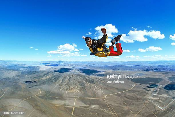 man skydiving, portrait - nevada stock pictures, royalty-free photos & images