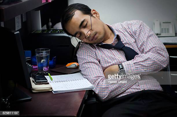 Man sleep on office