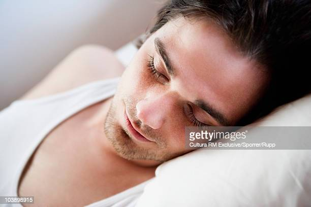 Man sleeping close up
