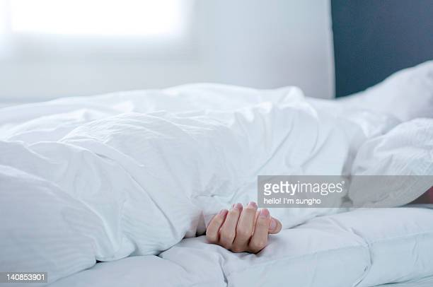 Man sleeping of bed