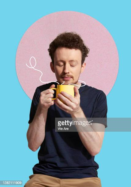 man smelling coffee - drink stock pictures, royalty-free photos & images