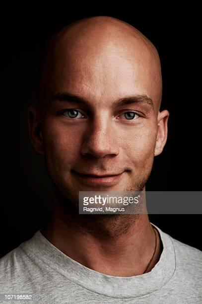 Man smiling, close-up, portrait