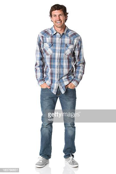 man smiling - tartan stock pictures, royalty-free photos & images