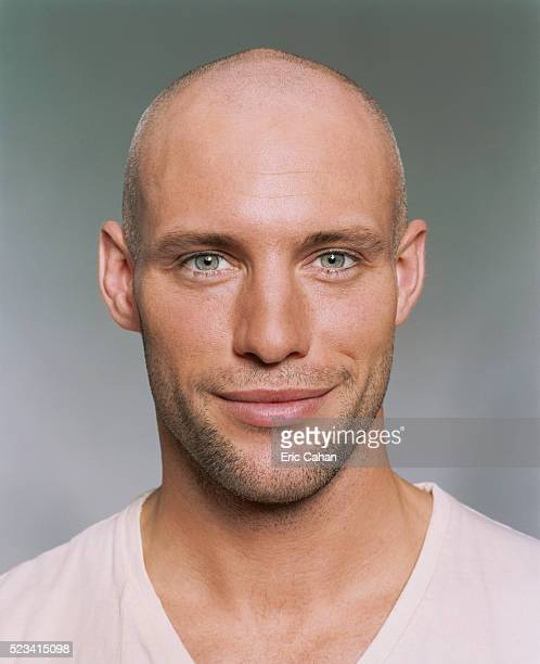 man smiling - hair loss stock pictures, royalty-free photos & images