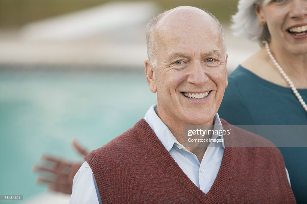 Man smiling : Stockfoto